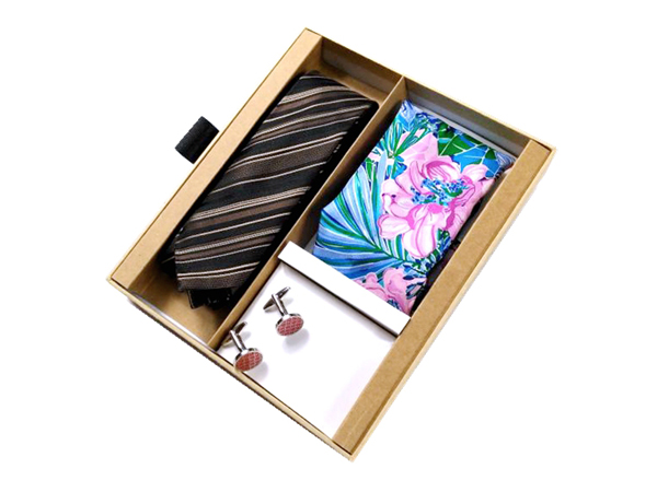 袖扣领带高档包装盒设计效果图