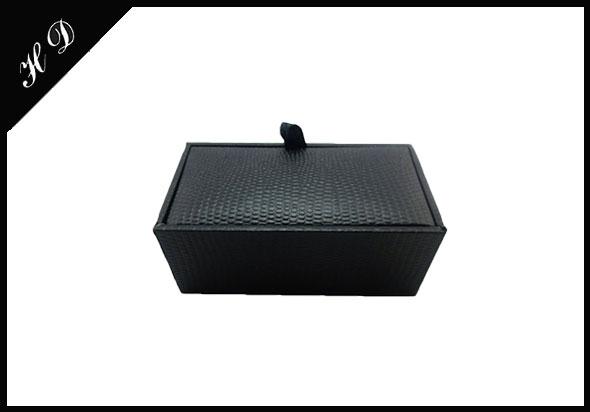 仿皮袖扣纸盒礼品包装盒厂家设计定制效果图