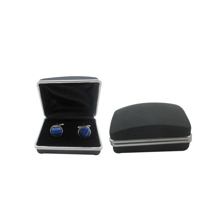 喷砂袖扣展示盒 金属袖扣包装盒