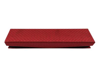 红色领带收纳盒子 高档领带包装盒