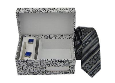 高档商务领带袖扣包装盒定制