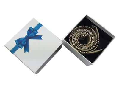 白色蝴蝶结领带盒 高档领带包装盒