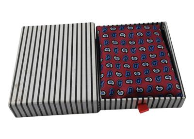黑白条纹丝巾包装盒 丝巾收纳盒
