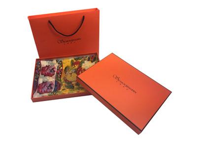 围巾手提袋礼盒 高档围巾包装盒